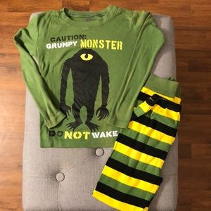 "Crazy 8's  ""Grumpy Monster"" pajama set"
